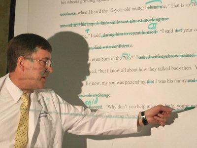 Manuscript doctor Andy Scheer